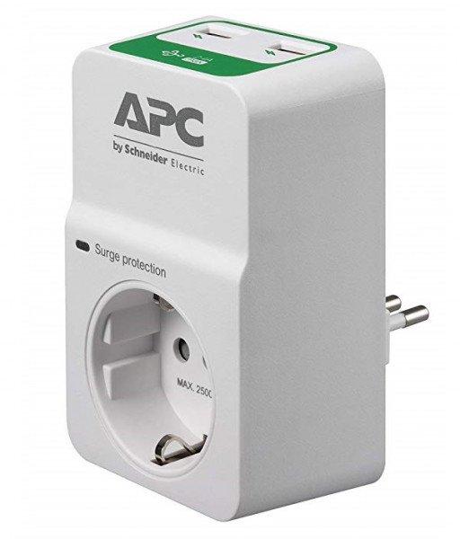 Купить Сетевые фильтры, Сетевой фильтр APC Essential SurgeArrest 1 розетка + 2 USB