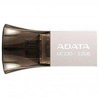 Накопичувач USB 2.0 ADATA UC330 32GB OTG Metal (AUC330-32G-RBK)