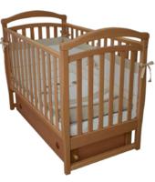 Детская кроватка VERES Соня ЛД-6 бук (маятник с ящиком) (06.1.61.1.01)