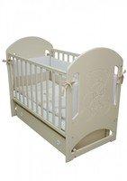 Детская кроватка VERES Соня ЛД-8 слоновая кость (маятник с ящиком, декор) (08.1.61.3.04)