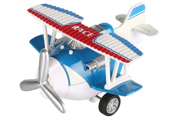 Купить Самолет металический инерционный Same Toy Aircraft синий со светом и музыкой (SY8012Ut-2)