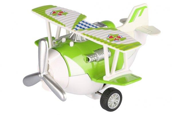 Купить Самолет металический инерционный Same Toy Aircraft зеленый со светом и музыкой (SY8012Ut-4)