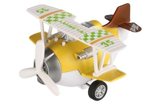Купить Самолет металический инерционный Same Toy Aircraft желтый со светом и музыкой (SY8015Ut-1)