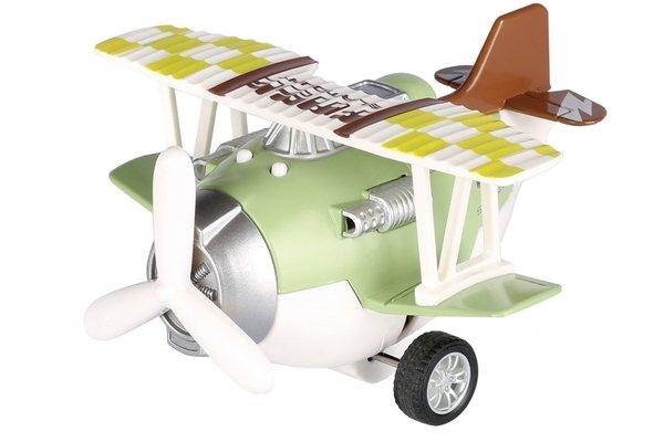 Самолет металический инерционный Same Toy Aircraft зеленый со светом и музыкой (SY8015Ut-2)  - купить со скидкой