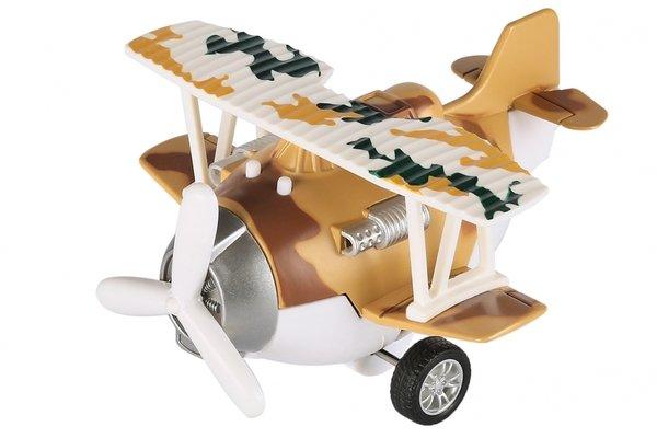 Купить Самолет металический инерционный Same Toy Aircraft коричневый со светом и музыкой (SY8015Ut-3)