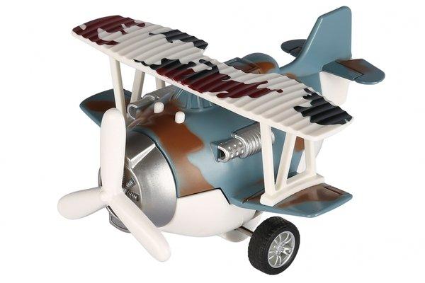 Купить Самолет металический инерционный Same Toy Aircraft cиний со светом и музыкой (SY8015Ut-4)