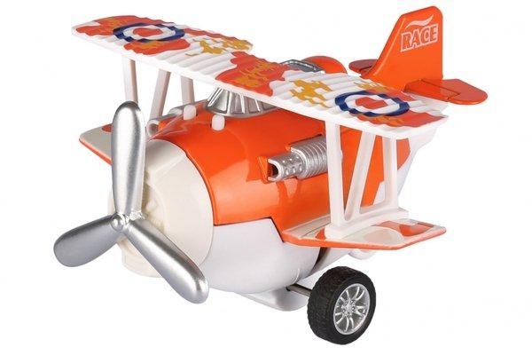 Купить Самолет металический инерционный Same Toy Aircraft оранжевый со светом и музыкой (SY8012Ut-1)