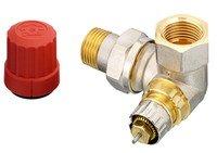"""Радиаторный клапан угловой левый Danfoss RA-N 15 термостатический, вх.1/2"""" - вых.1/2"""" (013G0234)"""