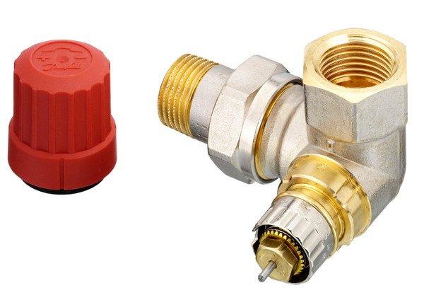 Купить Радиаторный клапан угловой левый Danfoss RA-N 15 термостатический, вх.1/2 - вых.1/2 (013G0234)