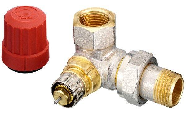 Купить Радиаторный клапан угловой правый Danfoss RA-N 15 термостатический, вх.1/2 - вых.1/2 (013G0233)