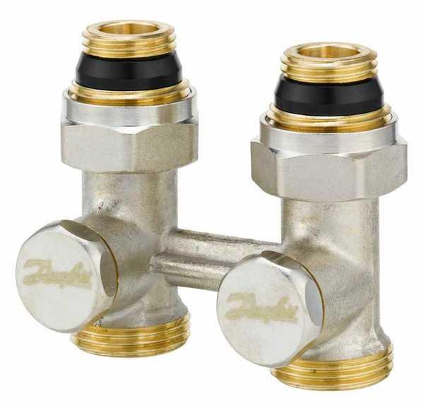 danfoss Запорный клапан прямой Danfoss RLV-KS 15 Н-образный, вх.1/2 - вых.3/4 (003L0220)