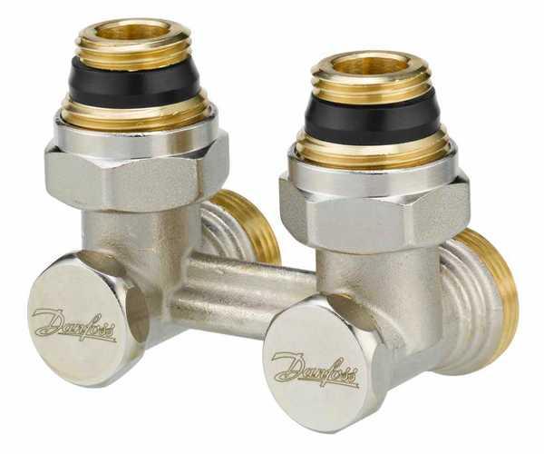 danfoss Запорный клапан угловой Danfoss RLV-KS 15 Н-образный, вх.1/2 - вых.3/4 (003L0222)