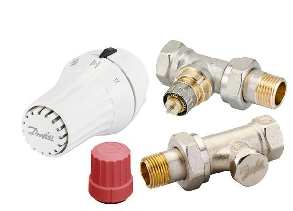 Купить Комплект радиаторных терморегуляторов Danfoss RA-N + RAE-C + RLV-S 1/2 , прямой (013G5174)