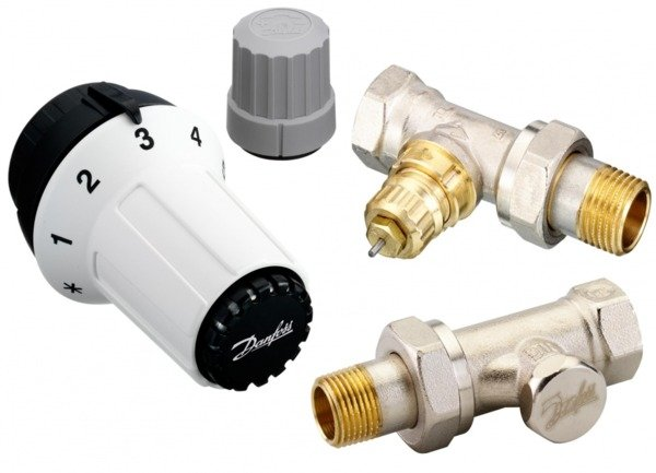 Купить Комплект радиаторных терморегуляторов Danfoss RAS-C + RA-FN + RLV-S 1/2 , прямой (013G5254)