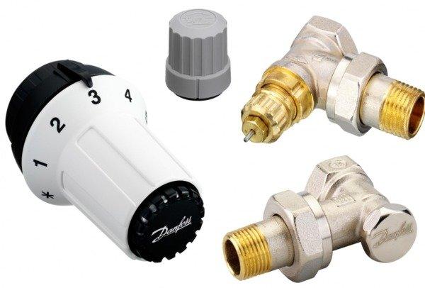 Купить Комплект радиаторных терморегуляторов Danfoss RAS-C + RA-FN + RLV-S 1/2 , угловой (013G5253)
