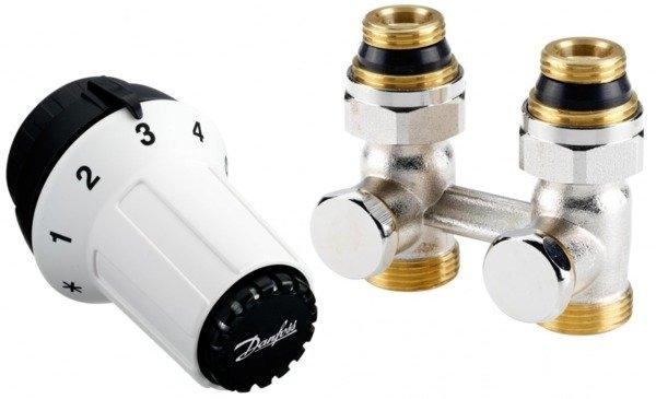 Купить Комплект радиаторных терморегуляторов Danfoss RAS-C + RLV-KS 1/2 , прямой (013G5277)