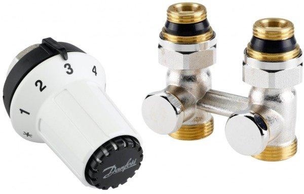 Купить Комплект радиаторных терморегуляторов Danfoss RAS-CK + RLV-KS 1/2 , прямой (013G5275)