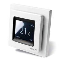 "Терморегулятор сенсорный DEVI Devireg Touch White, 2"" экран, 85х85мм, макс.16A (140F1064)"