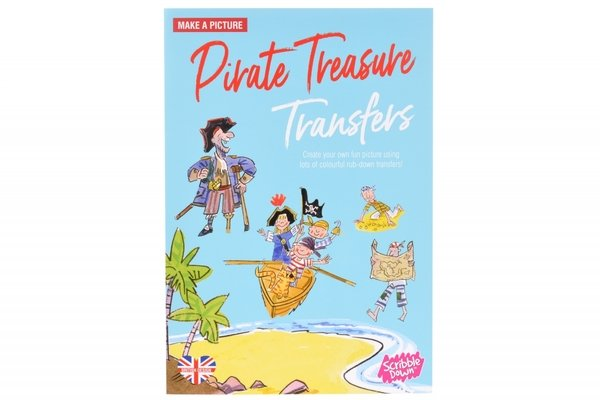 Купить Переводные наклейки Scribble Down Пиратское сокровище (SD/04)