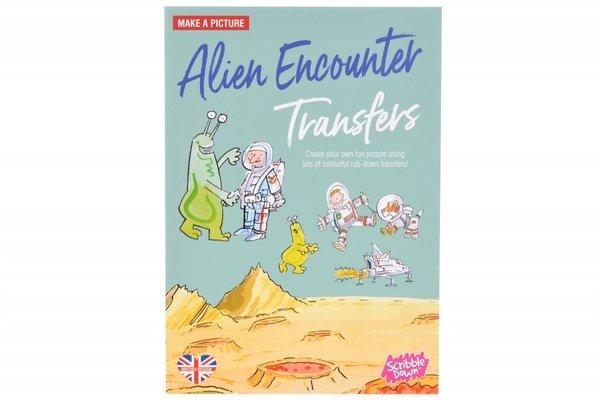 Купить Переводные наклейки Scribble Down Встреча с пришельцами (SD/06)
