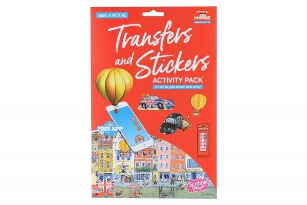 Купить Набор переводных наклеек Scribble Down с онлайн приложением Лондон (SD/19)
