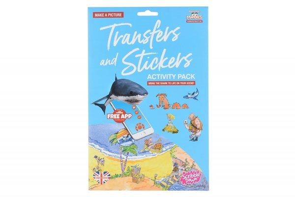 Купить Набор переводных наклеек Scribble Down с онлайн приложением Остров пиратских сокровищ (SD/20)