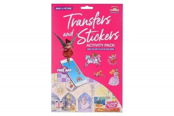 Набор переводных наклеек Scribble Down с онлайн приложением Сказка о принцессе (SD/21)  - купить со скидкой