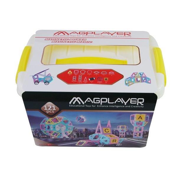 Купить Конструктор Magplayer магнитный набор бокс 121 эл. (MPT2-121)