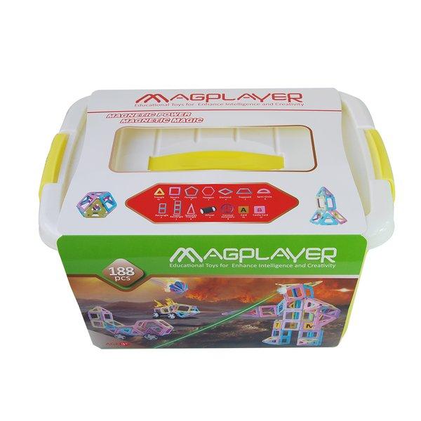 Купить Конструктор Magplayer магнитный набор бокс 188 эл. (MPT2-188)