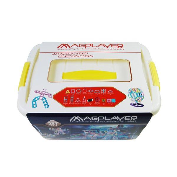 Конструктор Magplayer магнитный набор бокс 237 эл. (MPT2-237)  - купить со скидкой