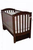 Детская кроватка VERES Соня ЛД-10 орех (маятник)