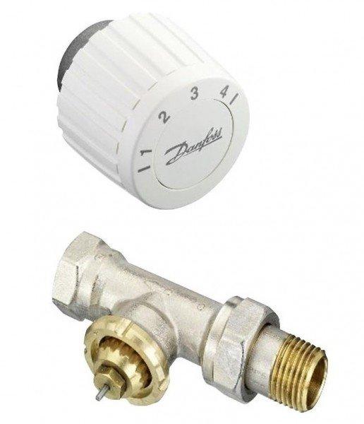 Терморегуляторы, программаторы, Комплект Danfoss RTL DN 15, прямой, ограничитель температуры обратного потока (003L1014+003L1040) (003L1080)  - купить со скидкой