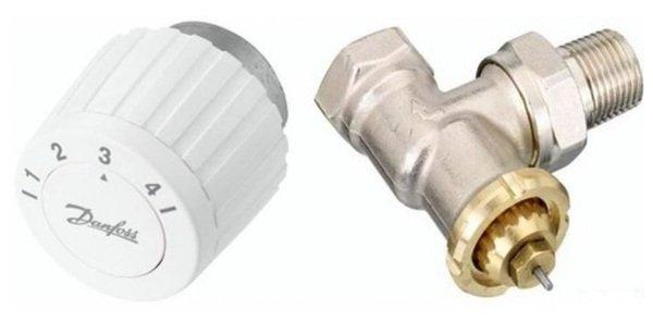 Купить Комплект Danfoss RTL DN 15, угловой, ограничитель температуры обратного потока (003L1013+003L1040) (003L1081)