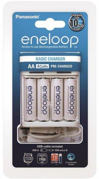 Купить Зарядное устройство Panasonic Basic USB Charger+eneloop 4AA 1900 mAh (K-KJ61MCC40USB)