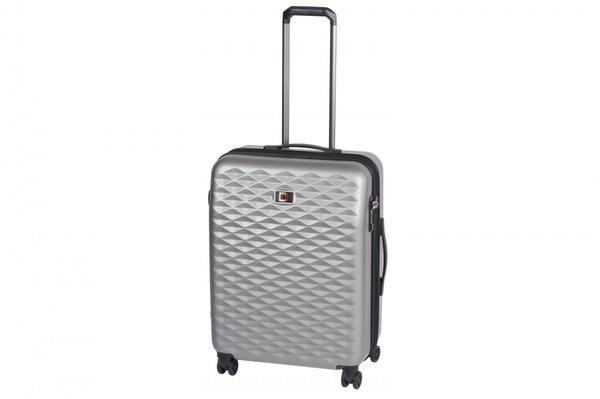 Купить Дорожные сумки и чемоданы, ЧемоданпластиковыйWengerLumen 24 средний, серый (604341)