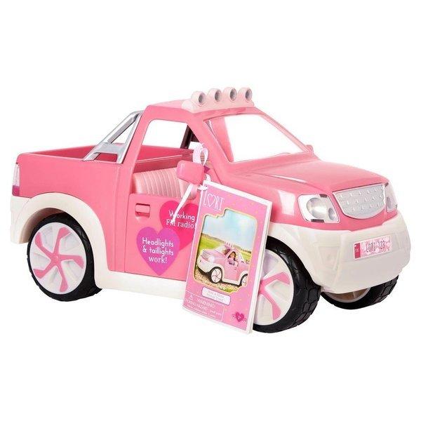 Купить Транспорт для кукол LORI Джип розовый с FM радио (LO37033Z), Janod