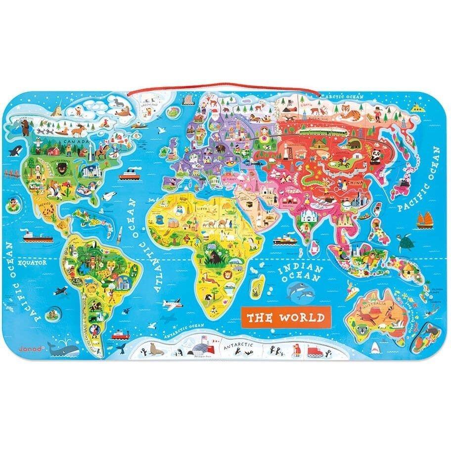 Магнітна карта світу Janod англ.мова (J05504) фото