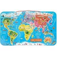 Магнитная карта мира Janod англ.язык (J05504)