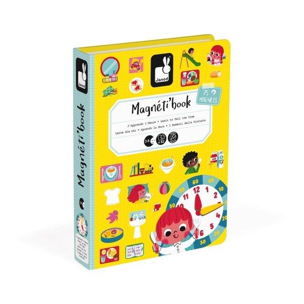 Купить Магнитная книга Janod Учимся называть время (J02724)