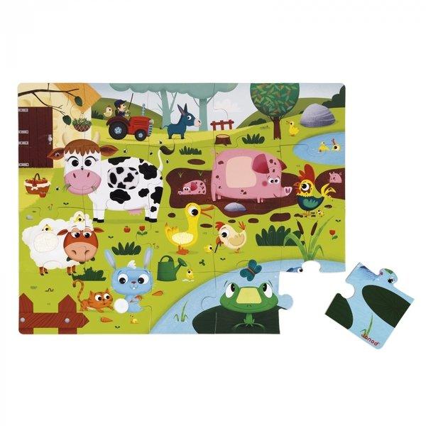 Купить Пазл тактильный Janod Животные на ферме 20 эл. (J02772)