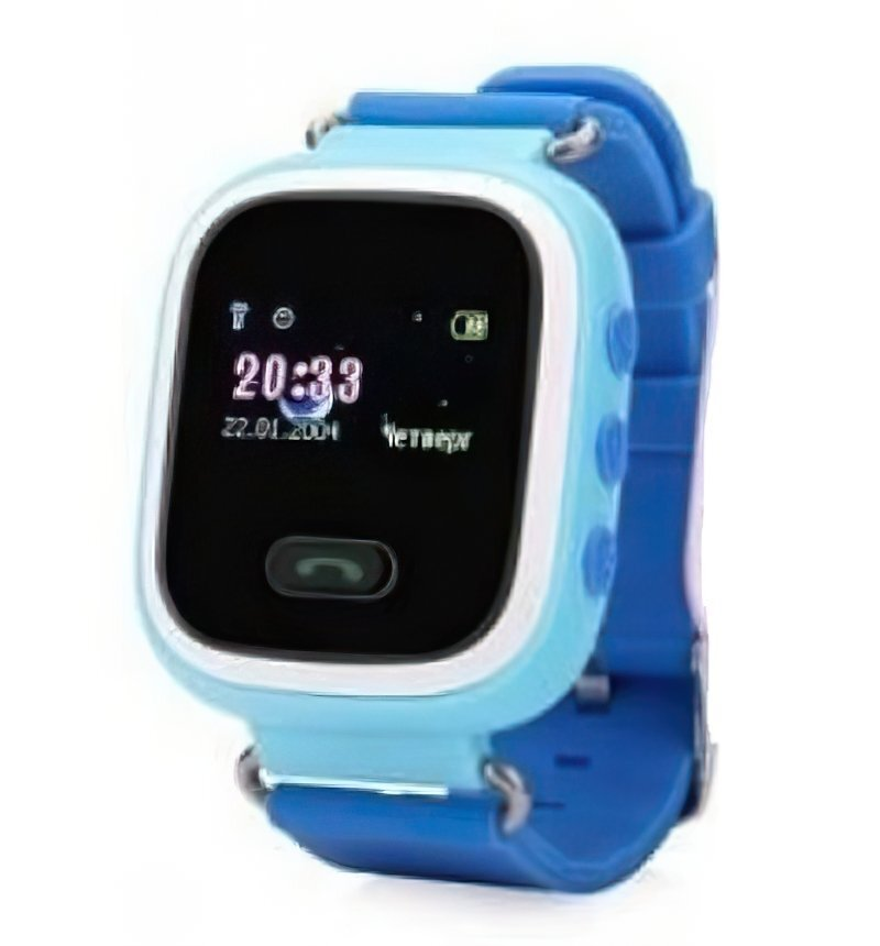 Детские часы-телефон с GPS трекером GOGPS ME K11 синий (K11BL) фото