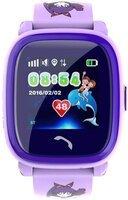 Детские часы-телефон с GPS трекером GOGPS ME K25 пурпурный (K25PR)