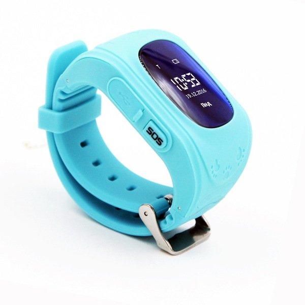 Купить Детские часы-телефон с GPS трекером GOGPS ME K50 бирюзовый (K50TR)
