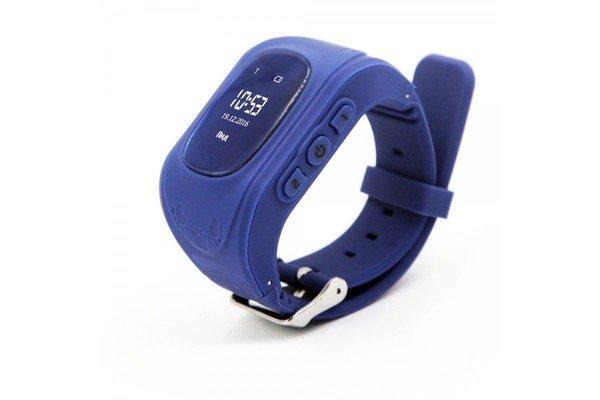 Детские часы-телефон с GPS трекером GOGPS ME K50 темно-синий (K50DBL)  - купить со скидкой