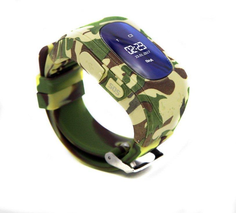 Детские часы-телефон с GPS трекером GOGPS ME K50 хаки (K50KK) фото