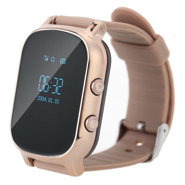 Детские часы-телефон с GPS трекером GOGPS ME К20 золотой (K20GD)