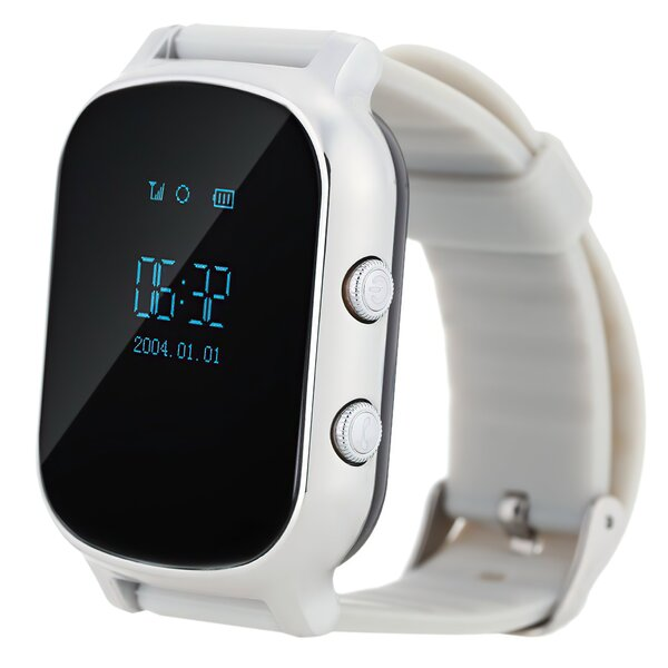 Детские часы-телефон с GPS трекером GOGPS ME К20 хром (K20CH)