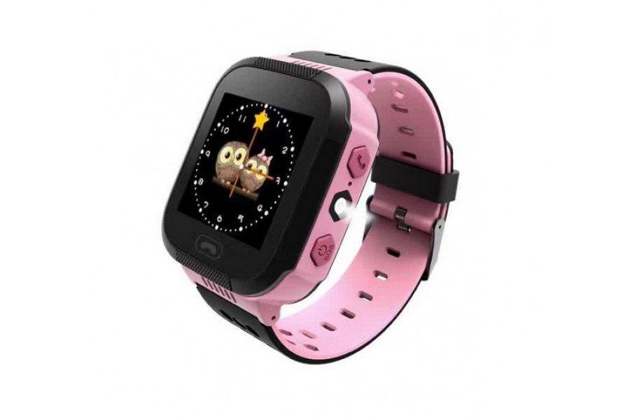 Детские часы-телефон с GPS трекером GOGPS ME К12 розовые (K12PK) фото 1 a5da380f3a321