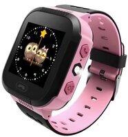Дитячі годинник-телефон з GPS трекером GOGPS ME К12 рожеві (K12PK)