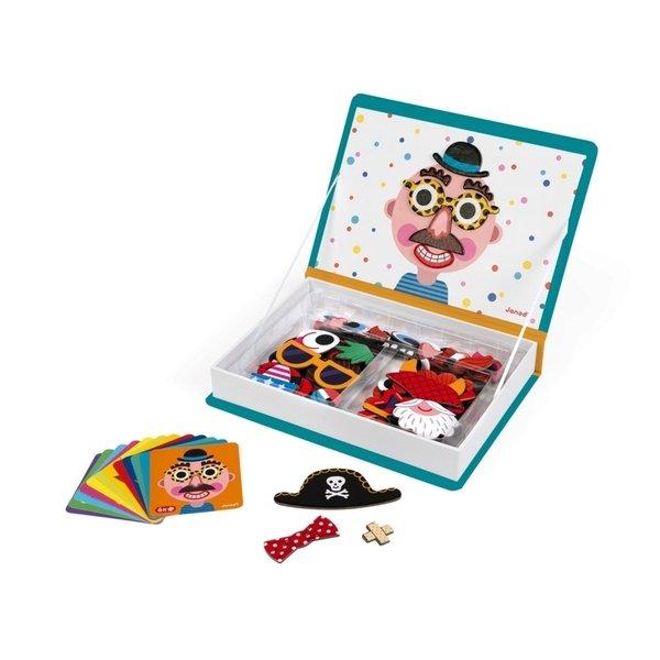 Купить Магнитная книга Janod Смешные лица - мальчик (J02716)